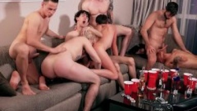 8 Amazing French Twinks Pornstars Fuck with Americans in wild Orgy Like you have never seen before!