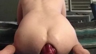 Wrecking my Boy Hole With Huge Bad-Dragon Dildos